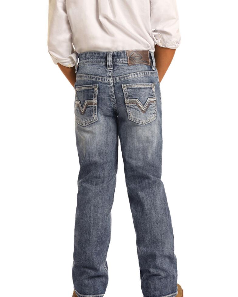 Rock & Roll Denim Boys' Reflex Stretch Vintage Bootcut Jeans , Blue, hi-res