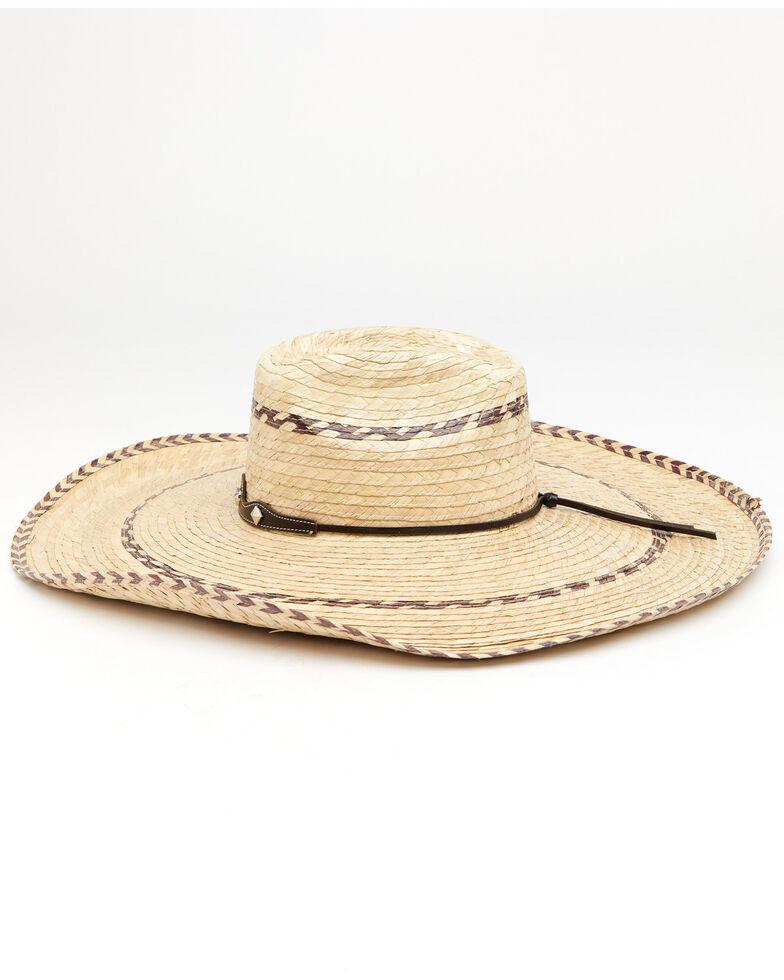 Cody James Palm Brick Pinto Palm Straw Western Hat , Natural, hi-res