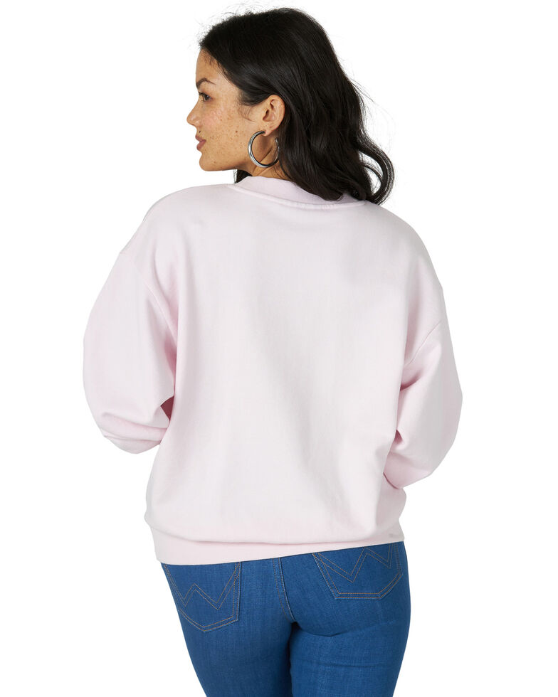 Wrangler Modern Women's Pink Jeanies High Rib Retro Sweatshirt, Pink, hi-res
