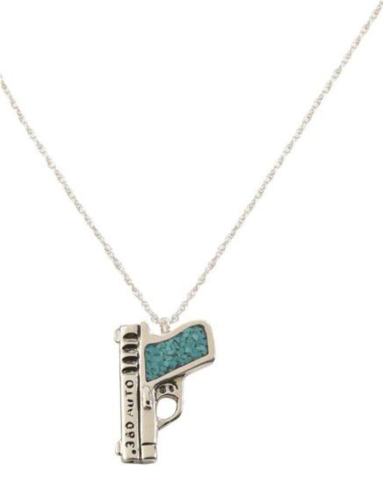 Silver Legends Women's 380 Auto Pistol Necklace , , hi-res