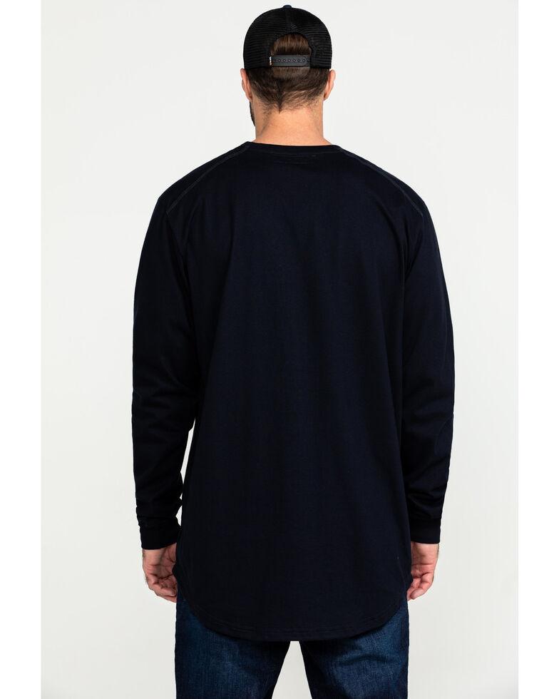 Hawx Men's Navy FR Pocket Long Sleeve Work T-Shirt , Navy, hi-res