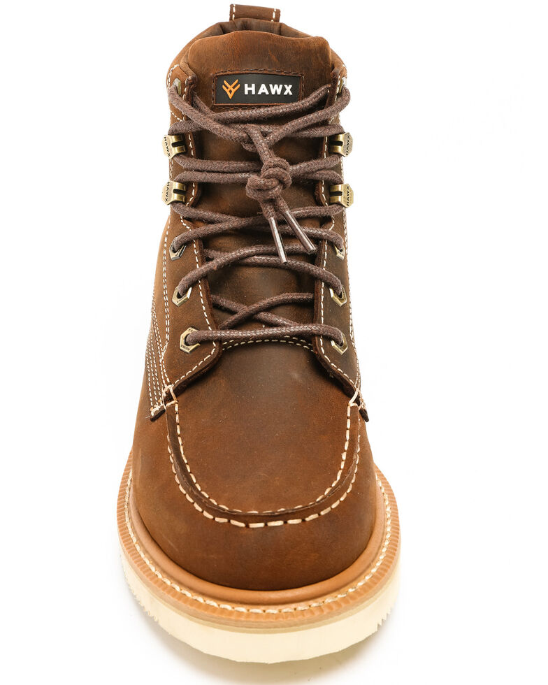 0ce6135fda3 Hawx® Men's Grade Moc Distressed Wedge Work Boots - Moc Toe