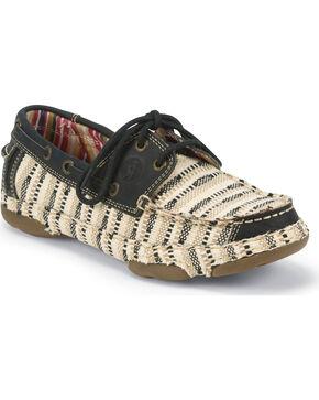 Tony Lama Women's Tan Lindale Lace Up Shoes , Tan, hi-res