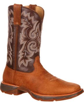 Durango Women's Ramped Up Lady Rebel Western Boots - Square Toe, Tan, hi-res