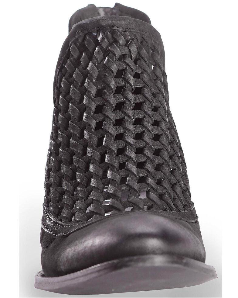 Very Volatile Women's Hudsun Black Woven Booties - Medium Toe, Black, hi-res