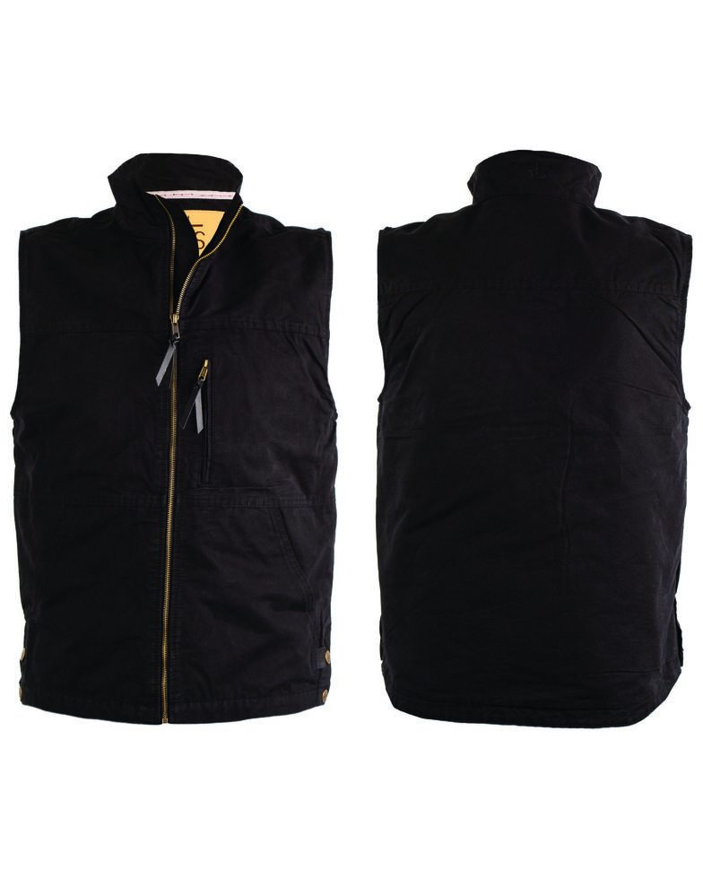 STS Ranchwear Men's Black Sundance Vest - Big , Black, hi-res