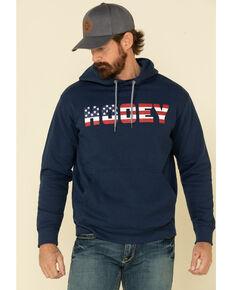 HOOey Men's Navy Patriot Graphic Hooded Sweatshirt , Navy, hi-res
