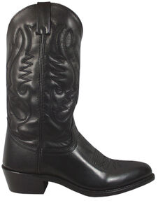 Smoky Mountain Men's Black Denver Cowboy Boots - Medium Toe, Black, hi-res