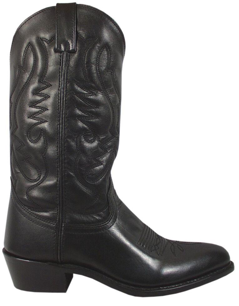 Smoky Mountain Men's Black Denver Cowboy Boots - Medium Toe, Black, hi-res
