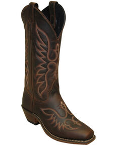Abilene Women's Brown Cowhide Western Boots - Square Toe, Brown, hi-res