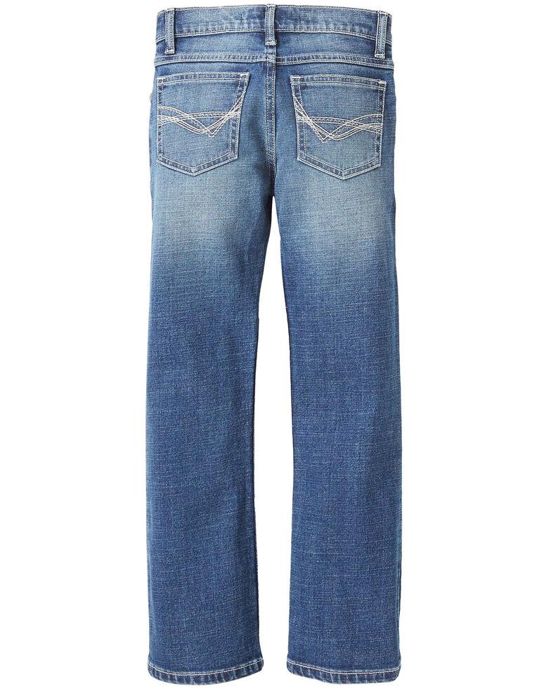 Wrangler Little Boys' No. 42 Vintage Tyler Stretch Slim Boot Jeans , Blue, hi-res