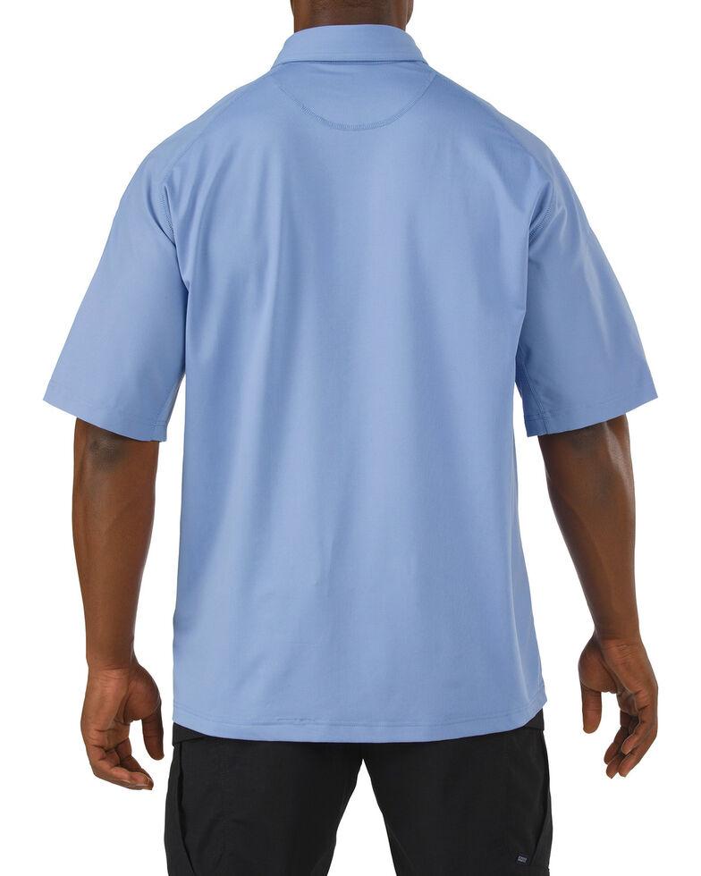 5.11 Tactical Rapid Performance Short Sleeve Polo Shirt - 3XL, Light Blue, hi-res
