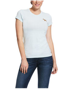 Ariat Women's Duck Egg Dog Embroidered Short Sleeve Tee , White, hi-res