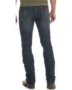 Wrangler Retro Men's Blue Stretch Denim Jeans - Skinny , Blue, hi-res