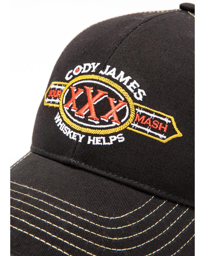 Cody James Men's Sour Mash Mesh Ball Cap , Black, hi-res