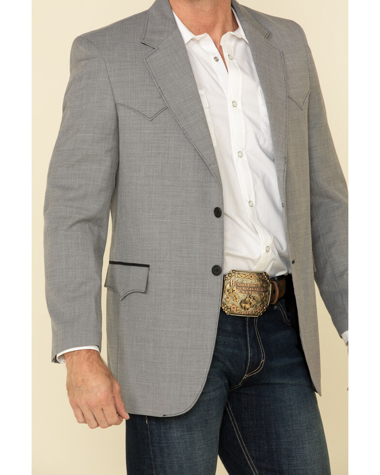 Circle S Men's Grey Lubbock Western Sportcoat , Grey, hi-res
