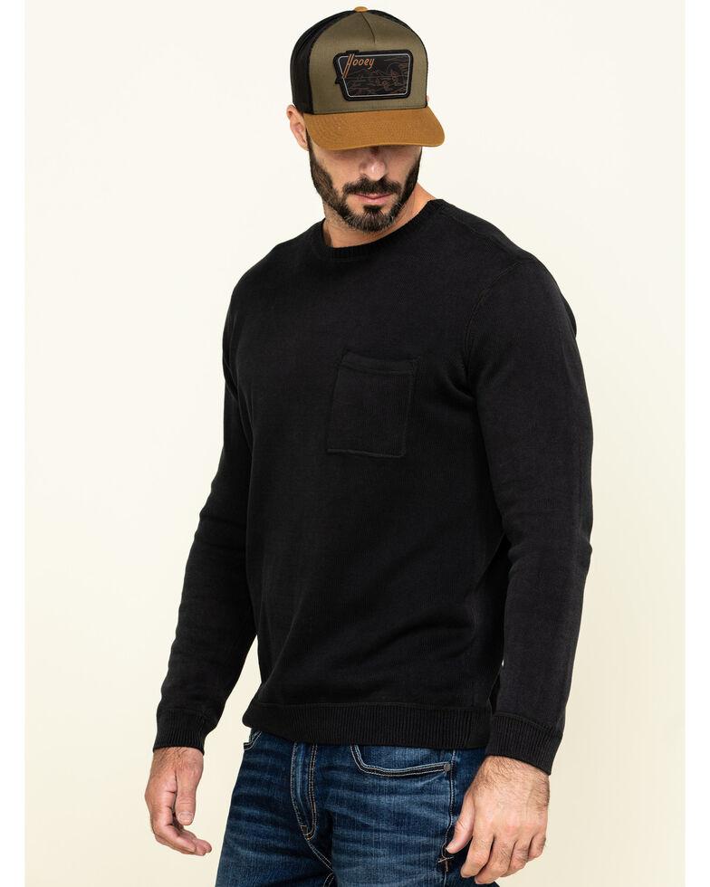 Cody James Men's Homestead Distressed Washed Sweatshirt , Black, hi-res