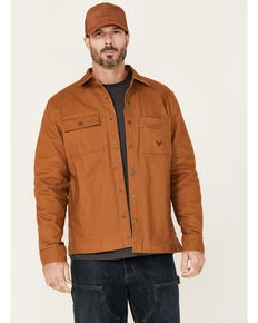 Hawx Men's Rust Copper Ellis Weathered Duck CPO Snap Work Shirt Jacket , Rust Copper, hi-res