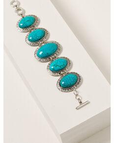 Howard's Women's Concho Link Bracelet, Turquoise, hi-res