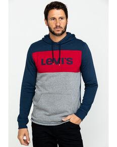 Levis' Men's Bilco Color-Blocked Fleece Hooded Sweatshirt , Charcoal, hi-res