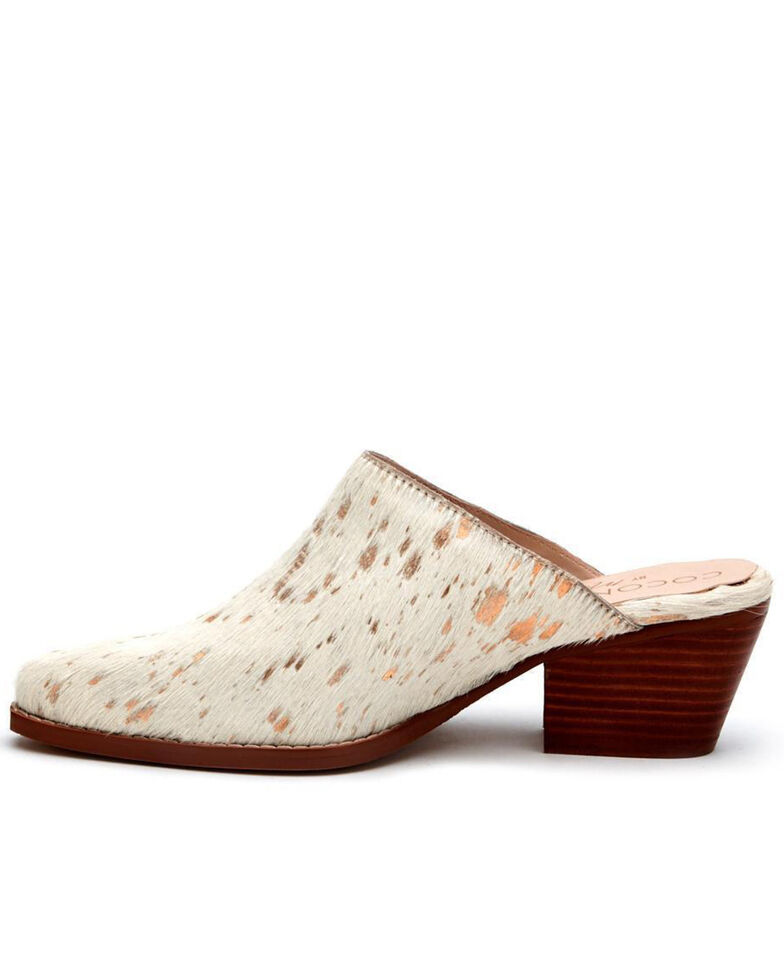 Matisse Women's Gold Spot Mules - Round Toe, Gold, hi-res