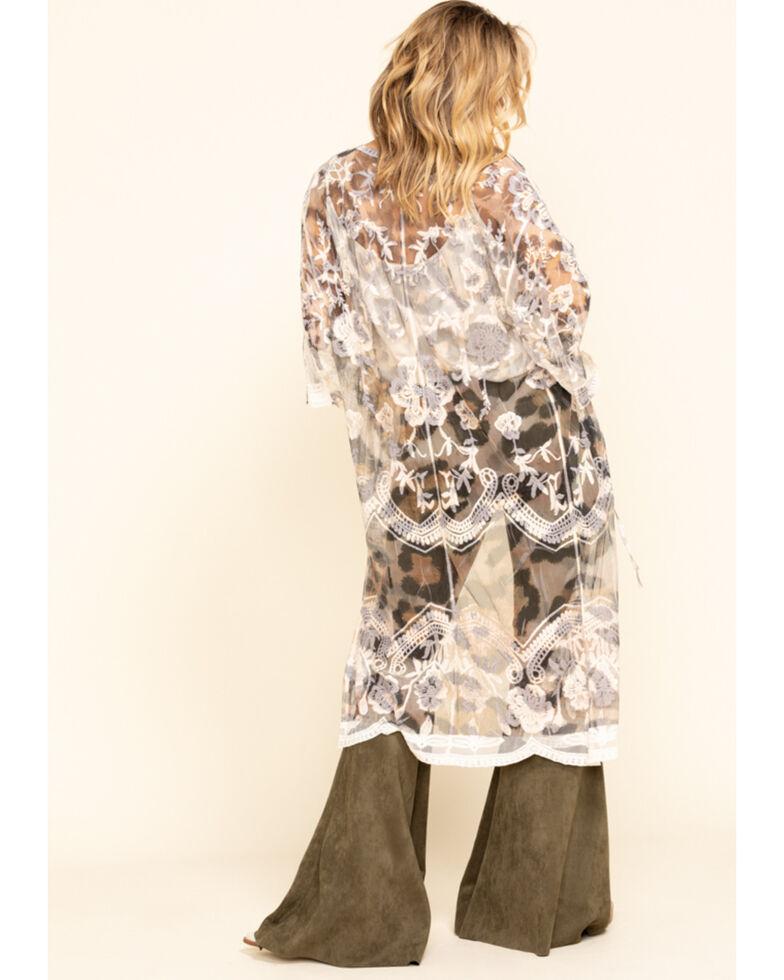 Origami Women's Leopard Print Mesh Kimono, Leopard, hi-res