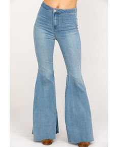 Free People Women's Just Float On Flare Jeans, Blue, hi-res