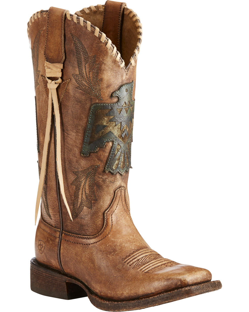 Ariat Women's Brown Thunderbird Thrill Boots - Square Toe , Brown, hi-res
