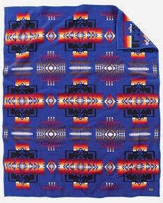 Pendleton Chief Joseph Sapphire Robe Blanket , Blue, hi-res