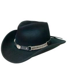 Jack Daniel's Crushable Wool Motorcycle Chain Hat, Black, hi-res