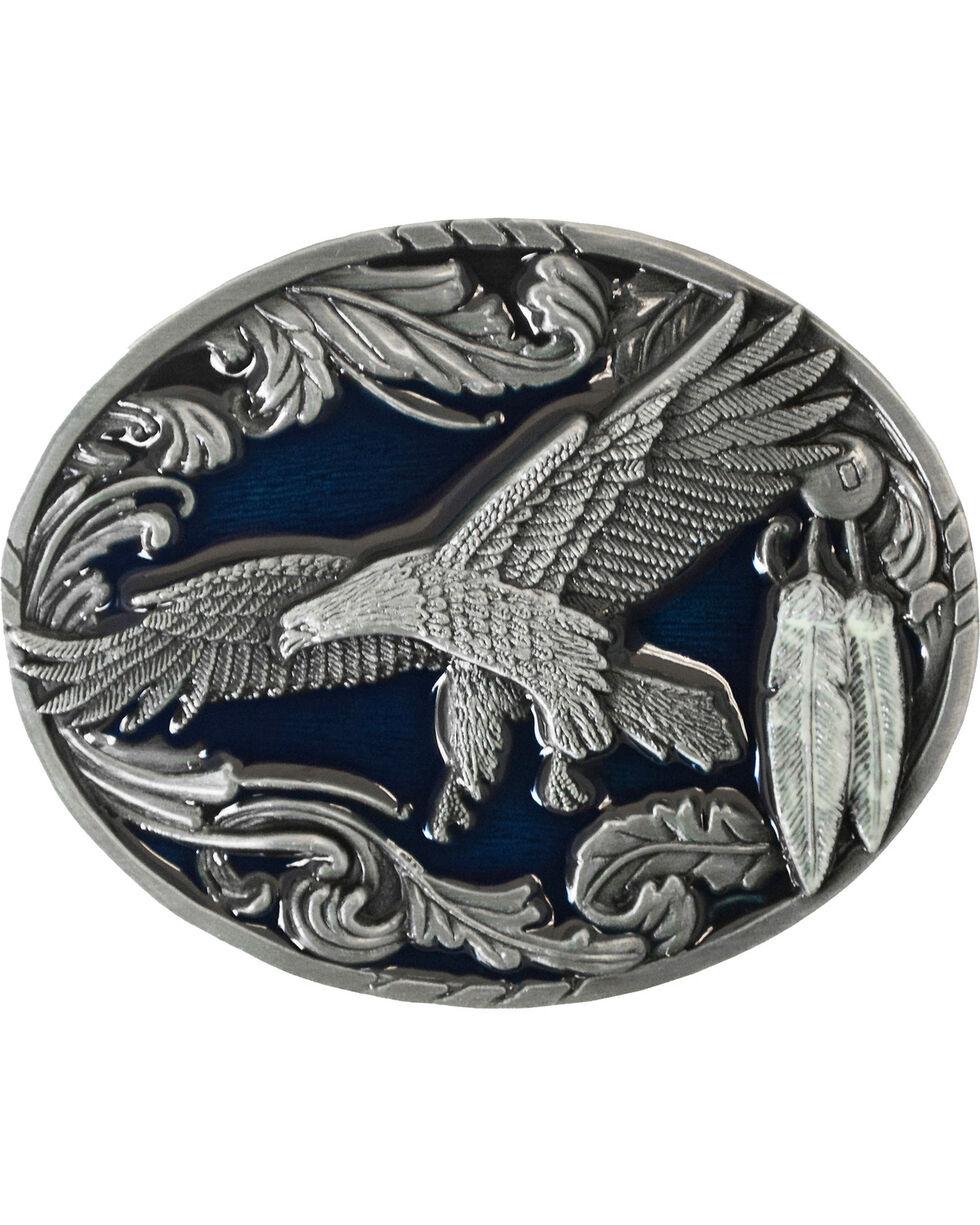Flying Eagle Belt Buckle, Pewter, hi-res