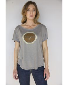 Kimes Ranch Women's Full Mood Tee, Grey, hi-res