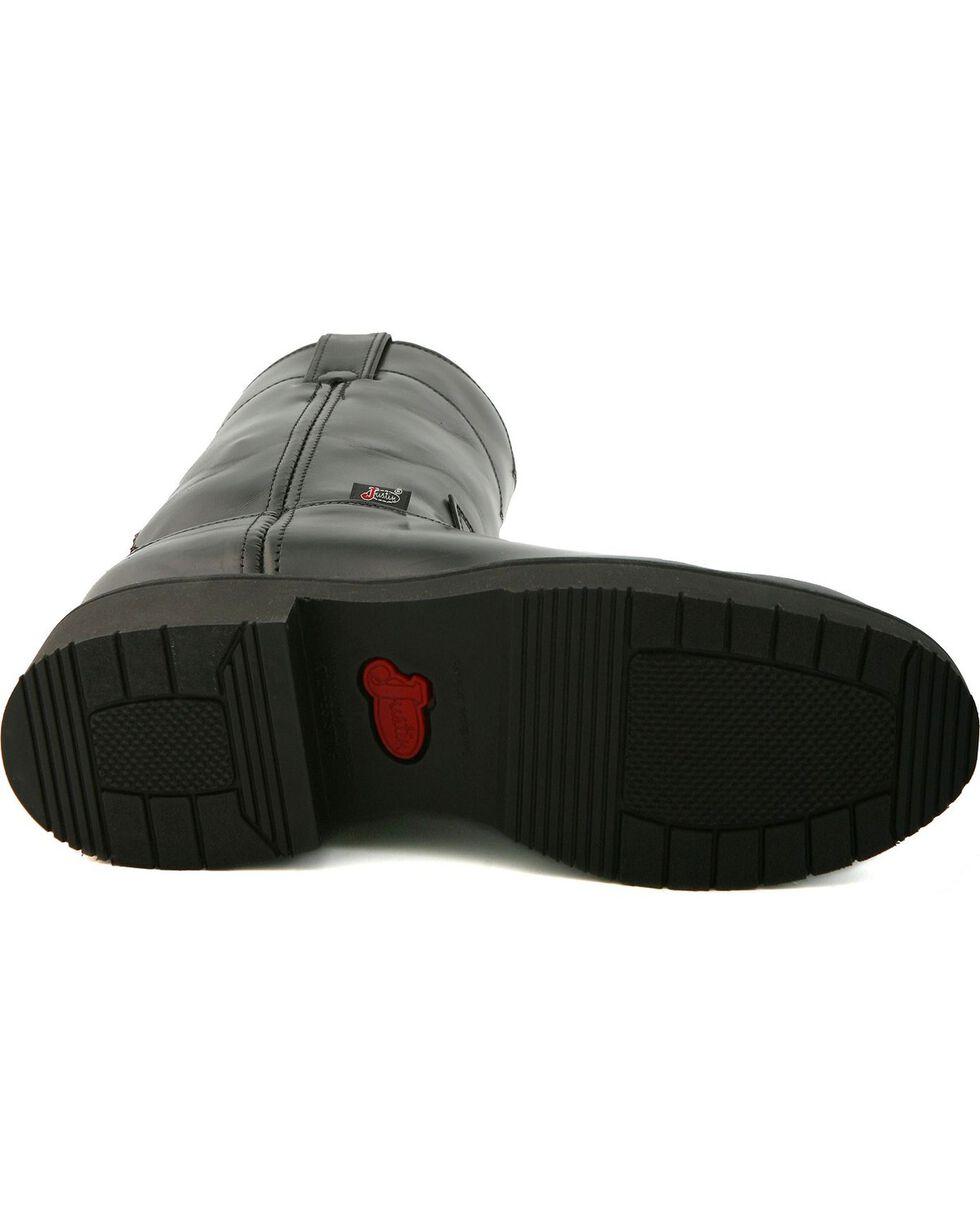 Justin Men's Black Polished EH Pull-On Work Boots - Soft Toe, Black, hi-res