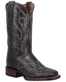 Dan Post Women's Everlyn Western Boots - Wide Square Toe, Black, hi-res