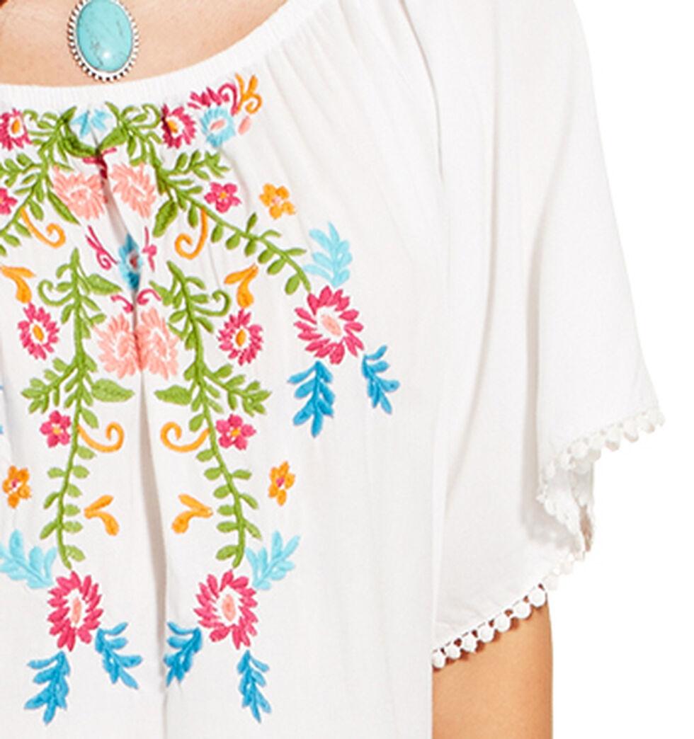 Ariat Women's White Short Sleeve Frida Top , White, hi-res