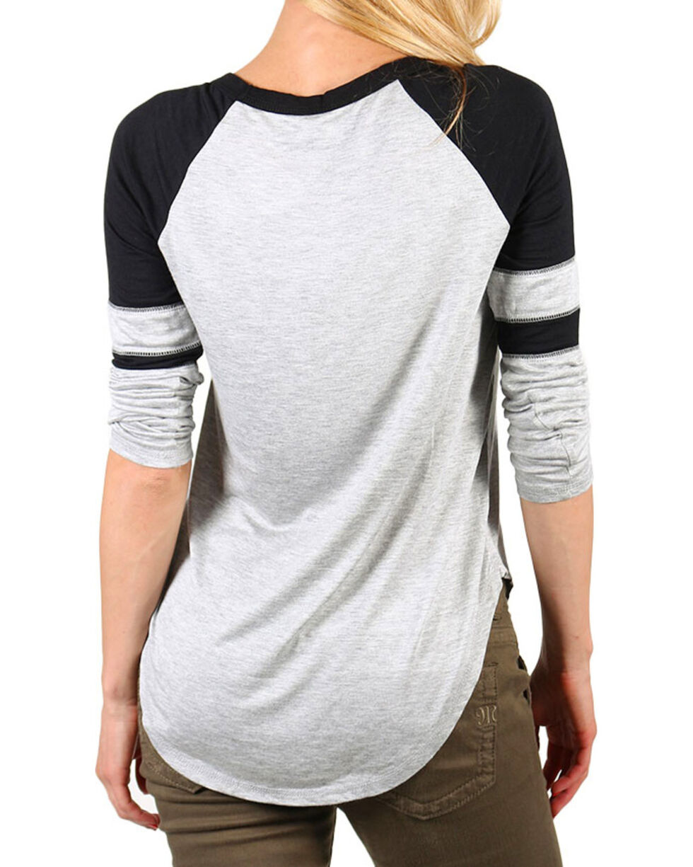 Rebellious One Women's Rodeo Bound Long Sleeve Tee, Ivory, hi-res