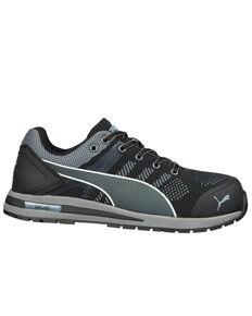 Puma Men's Gray Elevate Wedge Sole Work Shoes - Composite Toe, Black, hi-res