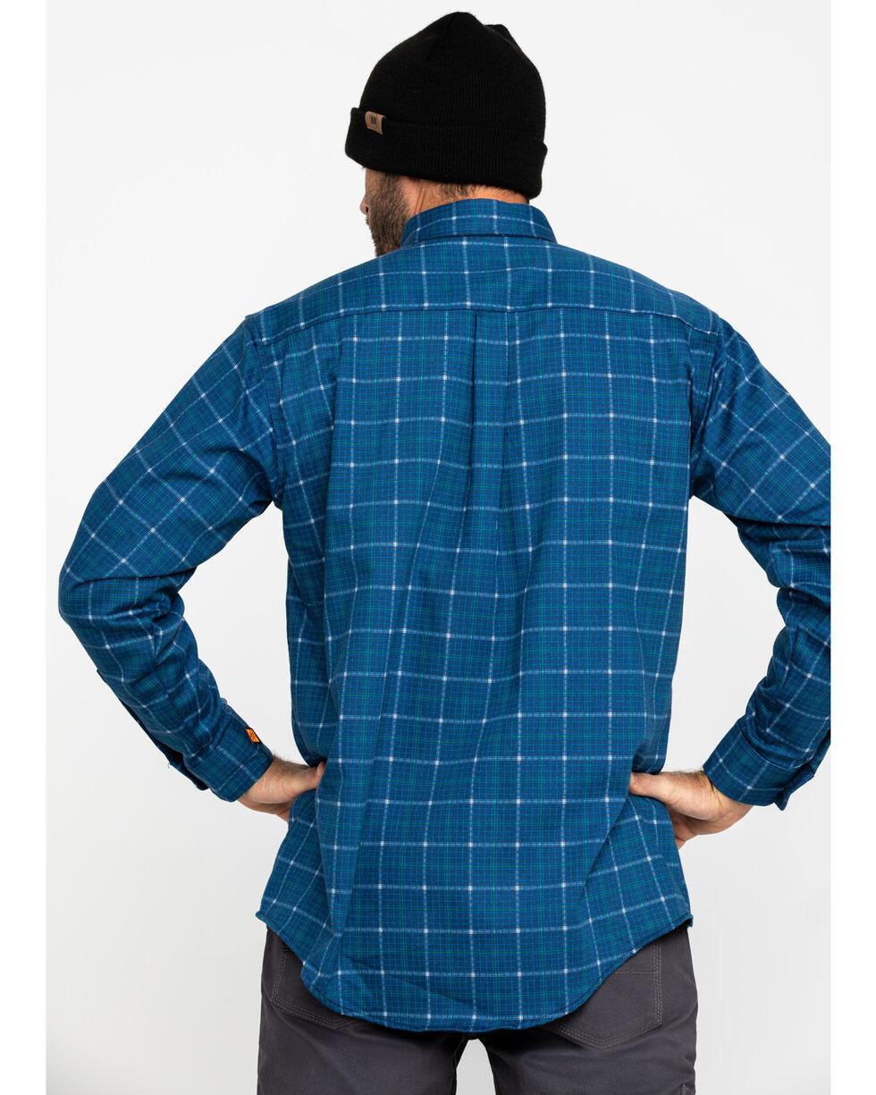 Wrangler Men's Blue 20X Flame Resistant Plaid Shirt , Blue, hi-res