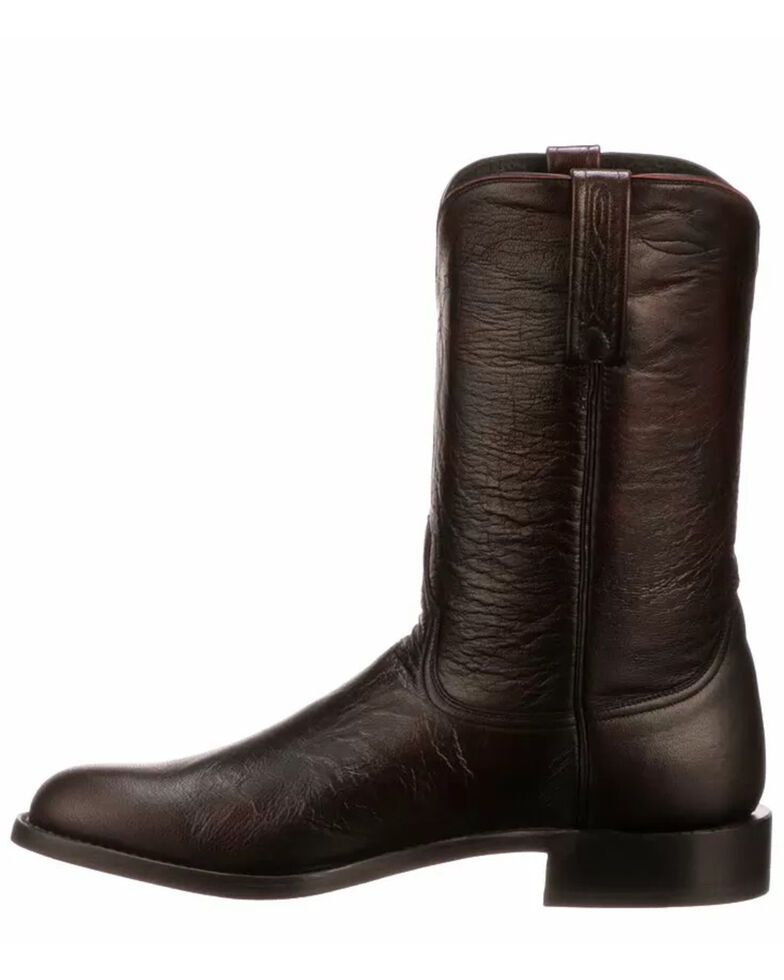 Lucchese Men's Majestic Roper Western Boots - Round Toe, Black Cherry, hi-res