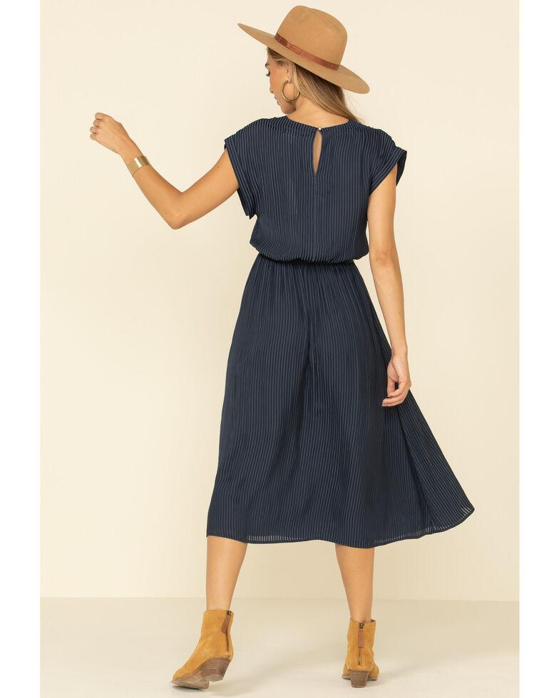 Rag Poets Women's Navy Stripe Chalet Midi Dress, Navy, hi-res