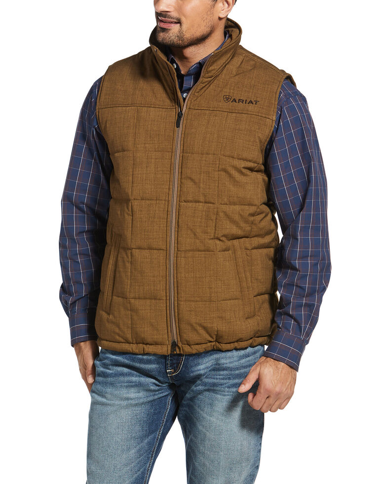 Ariat Men's Brown Crius Insulated Concealed Carry Vest , Brown, hi-res