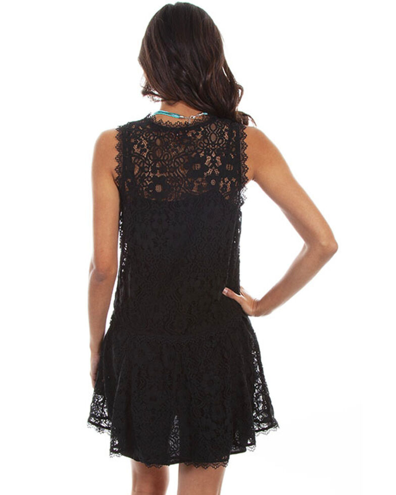 Honey Creek by Scully Women's Black Sleeveless Lace Dress, Black, hi-res