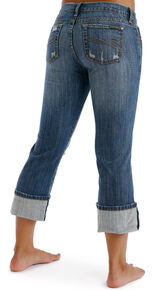 Stetson Women's 816 Classic Cropped Jeans, Denim, hi-res