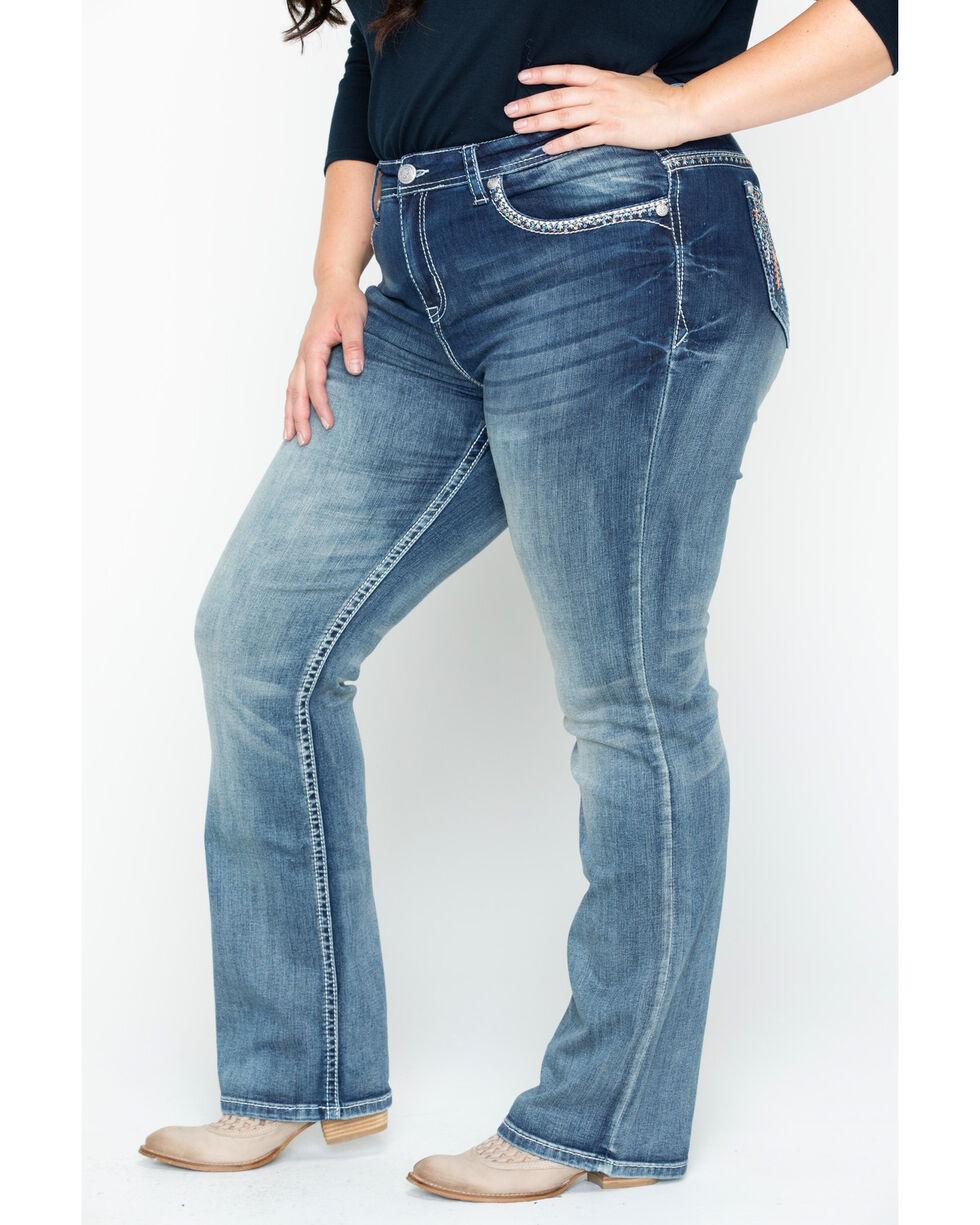 Grace in LA Women's Plain Skinny Jeans - Plus, Tan, hi-res