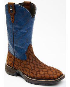 Cody James Men's Performance Western Boots - Wide Square Toe, Blue, hi-res
