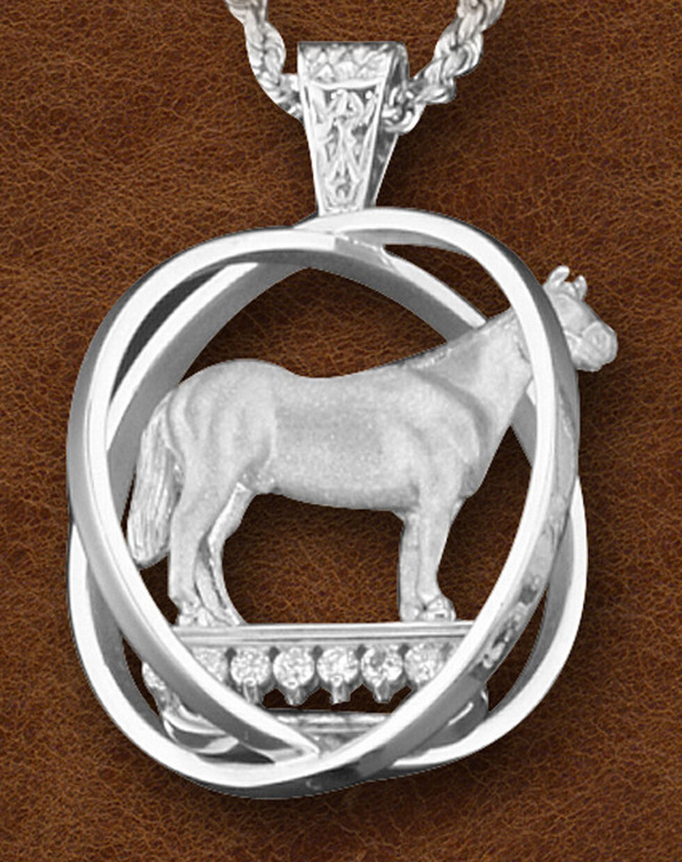 Kelly Herd Women's Sterling Silver Large World Trophy Necklace, Silver, hi-res