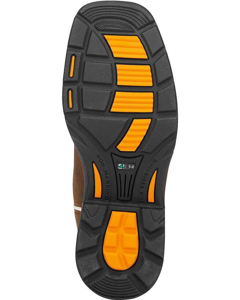 Ariat Child Distressed Workhog Boots - Steel Toe , Brown, hi-res