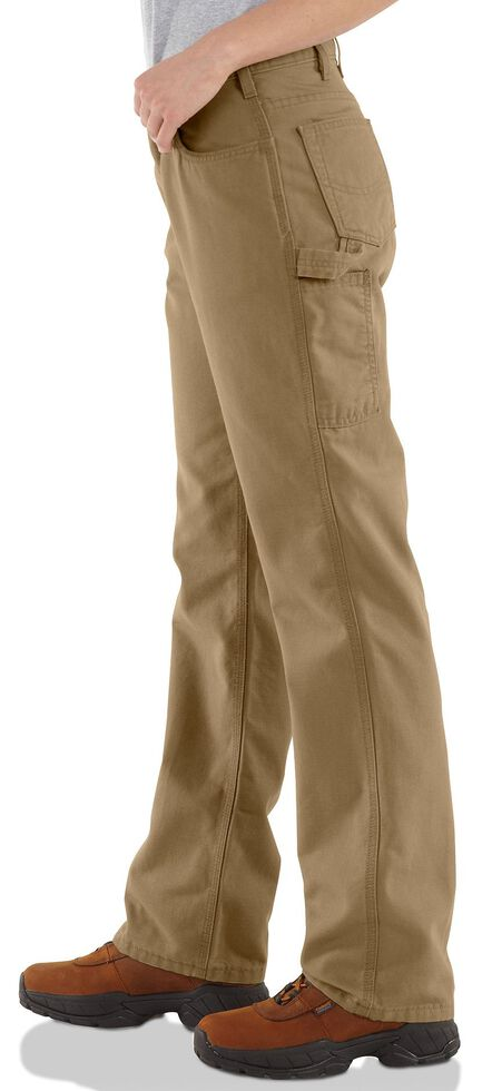 "Carhartt Flame Resistant Canvas Work Pants - 34"" Inseam, Khaki, hi-res"