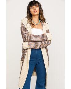 Nikki Erin Women's Rainbow Sweater Cardigan, Cream, hi-res