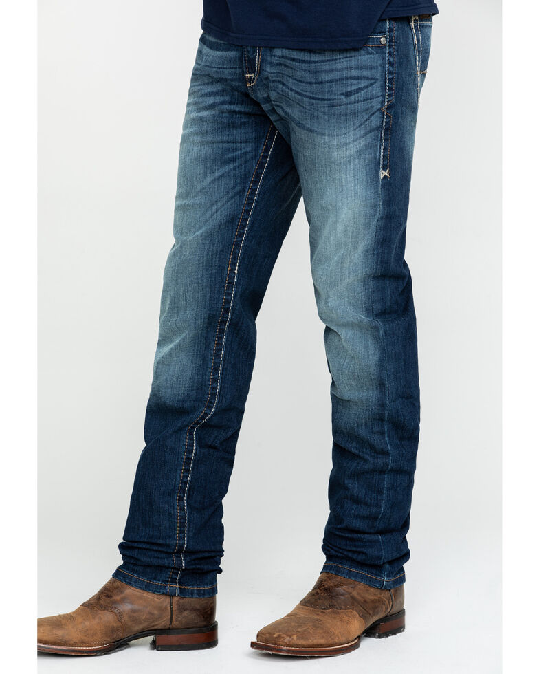 Ariat Men's M8 Modern Champ Tek Stretch Slim Straight Jeans , Blue, hi-res